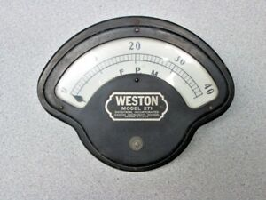 Vintage Weston Model 271 Fpm Gauge Steampunk Aviation