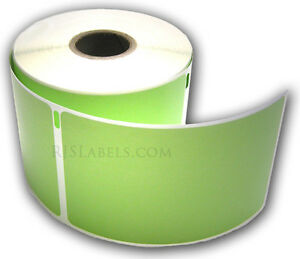 6 Rolls Rjs Green Shipping Labels Compatible W dymo 30256