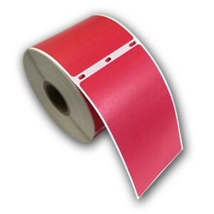 6 Rjs Red Shipping Labels 2 5 16 X 4 Compatible W dymo 30256