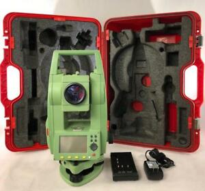 Leica Tcr403r300 Ultra Total Station Set For Surveying tripod prism