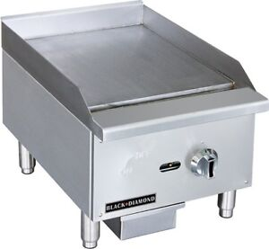 Commercial Kitchen Manual Control Countertop Natural Gas Griddle 16