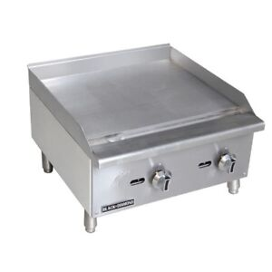 Commercial Kitchen Manual Control Countertop Natural Gas Griddle 24