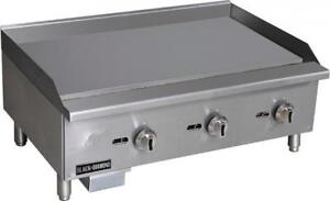 Commercial Kitchen Manual Control Countertop Natural Gas Griddle 36