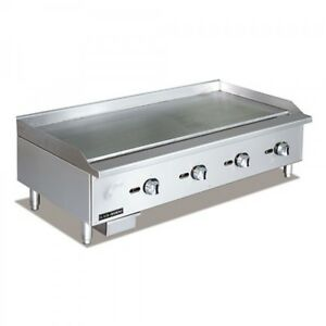 Commercial Kitchen Manual Control Countertop Natural Gas Griddle 48
