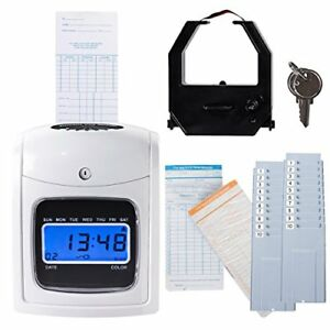 Electronic Time Clock Employee Attendance Time Recorder Punch Clock W 200 new