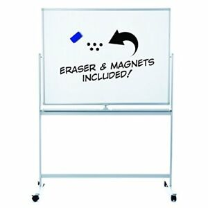 Large Mobile Magnetic Dry Erase Board With Magnets And Eraser Easy Clean 48x36