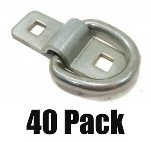 40 3 8 Steel D Rings Clips Tie Down For Trailer Truck Chain Anchor Bolt On