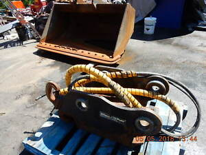 2014 Engcon 200 300 Excavator Qs70 Hydraulic Quick Coupler C w 74 Inch Cleanup