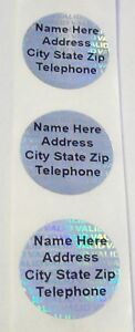 100 To 1000 Valid 20 Mm Round Customized Hologram Tamper Evident Label Sticker