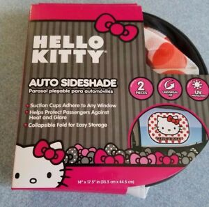 Hello Kitty 2 Pc Auto Car Side Shade Window Sun Visor Mesh Screen New