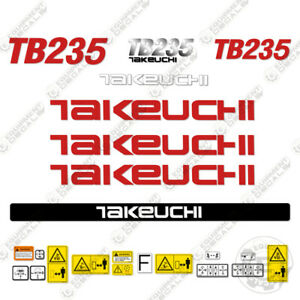 Takeuchi Tb 235 Mini Excavator Decals Equipment Decals Tb235 Tb 235