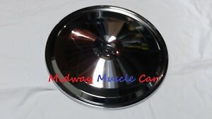 17 Chrome Air Cleaner Lid 67 74 Pontiac Gto Firebird Olds 442 Gs 400 455 350