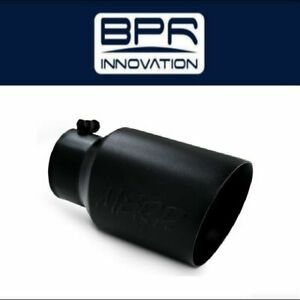 Mbrp Black 12 exhaust Tip 4 Inlet 6 Outlet Dual Walled Angled T5072blk