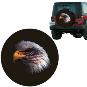 15inch Eagle Head Black Spare Wheel Cover Tire Covers For Wrangler Truck Suv