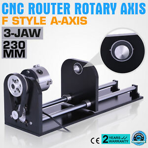 Cnc Router Rotary Axis With 80mm F Style A axis 230mm Track Co2 Laser Engraving