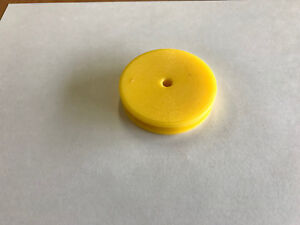 Plastic Cable round Belt Pulley 2 1 2 Outside Dia For 1 4 Dia Belt Yellow