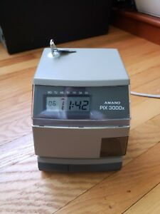 Amano Pix 3000x Electronic Time Recorder