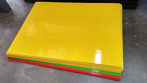 15pc Hdpe Multi Color Plastic Sheets Thermoform Welding Vacuum Forming 24 18 1 8