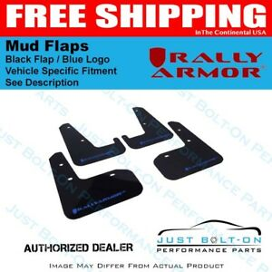Rally Armor Fits 2015 2017 Vw Golf R Ur Black Mud Flap W Blue Logo