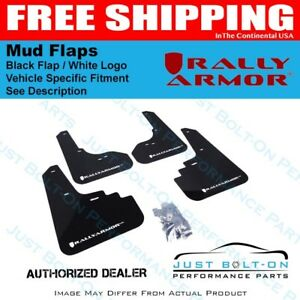 Rally Armor Fits 2015 2017 Vw Golf R Ur Black Mud Flap W White Logo