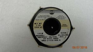Kester 24 6337 8800 50 Activated Rosin Cored Wire Solder Roll 245 No clean 63 37