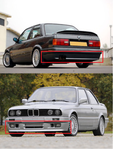 Euro Front Rear Spoiler Bmw E30 M3 Mt2 M Tech Ii Technic 2 Bumper Body Kit No2