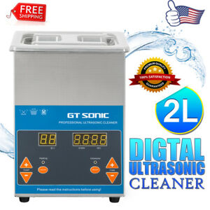 2l Industry Digital Ultrasonic Cleaner Heater Timer Stainless Jewelry Clean Tank