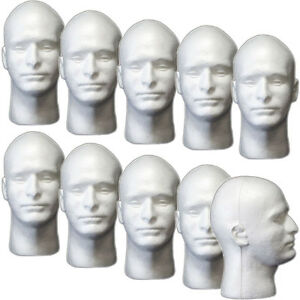 Mn 409 10 Pcs Male Styrofoam Foam Mannequin Head