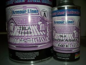 Tintable Armour Liner Tbla Spray In Truck Bed Liner 5 Quart Kit Liner Activator