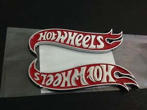 New Hot Wheels Lh Rh Fender Emblems Badge Red Chrome For Mustang Camaro
