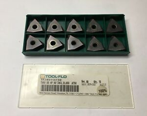 Tool Flo Carbide Inserts Tf24511at50 Tnma 55 4p At50 Qty 10 New