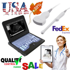 Portable Laptop Ultrasound Scanner Machine 2 Probes digital Diagnostic System ce