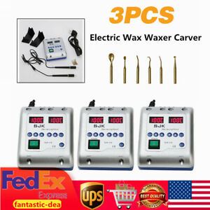 Dental Lab Electric Carving Pen Pencil Wax Waxer Carver Double 6 Tip Laboratory