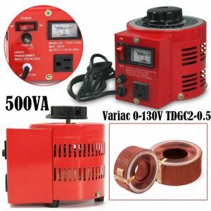 Metered 500w 110v 500va Variac Variable Ac Auto Transformer Regulator 0 130v ht