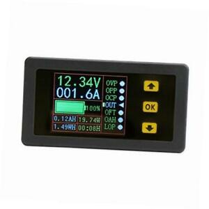 Digital Dc Multimeter 0 90v 0 100a Voltmeter Ammeter Power Capacity Time Meter