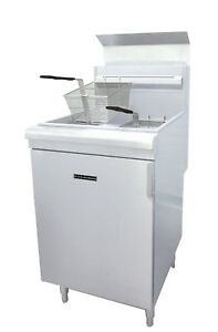 Commercial Kitchen 65 70 Lb Natural Gas Deep Fryer 150 000 Btu
