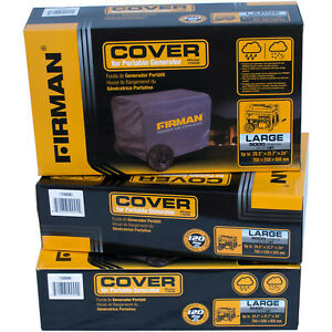 Firman Generator Cover Large Black Nylon Water resistant 5000 8000 Watt Portab