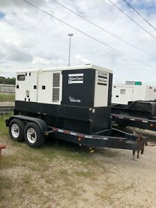 2011 Atlas Copco Qas150 Trailer Mounted Diesel Generator Load Tested 125kw