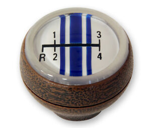 New 1968 1969 Ford Mustang 4 Speed Shift Knob Woodgrain Shifter Shelby Style