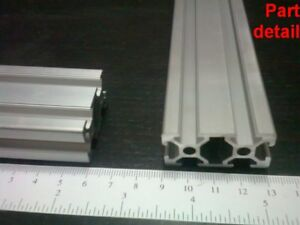 Aluminum T slot Extruded Profile 20x40 6mm L100 200 300 400 Or 500mm 3pieces