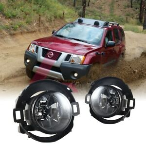 For 2005 2014 Nissan Xterra Fog Lights Wiring Switch And Bezels Clear Lens