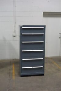 Used Lista 6 Drawer Cabinet Industrial Tool Parts Storage 1386 Vidmar