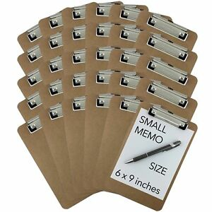 Trade Quest Memo Size 6 X 9 Clipboards Low Profile Clip Hardboard pack O
