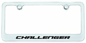 Dodge Challenger License Plate Frame Chrome