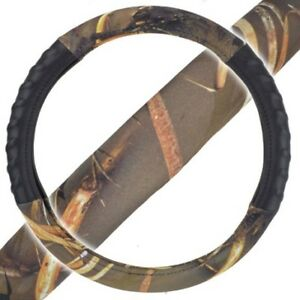 Bdk Muddy Water Camo Camouflage Steering Wheel Cover Odorless Tpe Material