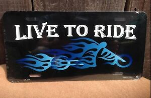 Live To Ride Wholesale Novelty License Plate Bar Wall Decor