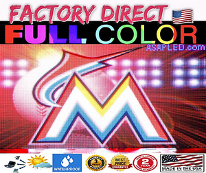 Wireless Led Sign Full Color Adverting Front Access P10 Us Factory 25 X 63