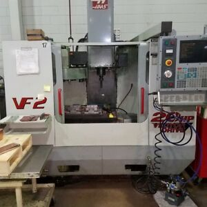 Used Haas Vf 2 Cnc Vertical Machining Center Mill Rigid Tap Gear Box Chip Aug 01