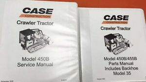 Case 450b Crawler Tractor Manual Set
