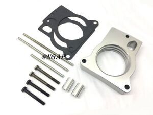 Silver Throttle Body Spacer Fit 96 05 Gmc Chevy Sonoma S10 Blazer 4 3l V6 More